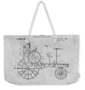 1919 Antique Tractor Gray Patent Print Weekender Tote Bag