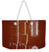 1919 Baseball Bat - Dark Red Blueprint Weekender Tote Bag