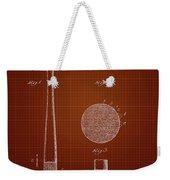 1923 Baseball Bat - Dark Red Blueprint Weekender Tote Bag