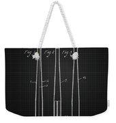 1924 Baseball Bat - Black Blueprint Weekender Tote Bag