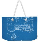 1924 Ice Cream Scoop Blueprint Patent Print Weekender Tote Bag