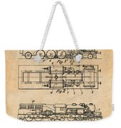 1925 Turbine Driven Locomotive Antique Paper Patent Print  Weekender Tote Bag