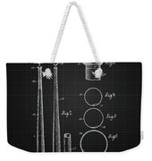 1926 Baseball Bat - Black Blueprint Weekender Tote Bag