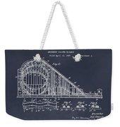 1927 Roller Coaster Blackboard Patent Print Weekender Tote Bag