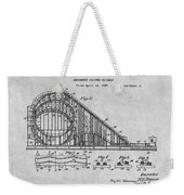 1927 Roller Coaster Gray Patent Print Weekender Tote Bag