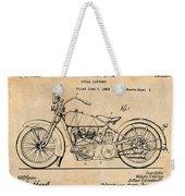 1928 Harley Davidson Motorcycle Antique Paper Patent Print Weekender Tote Bag