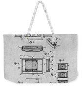 1930 Leon Hatot Self Winding Watch Patent Print Gray Weekender Tote Bag