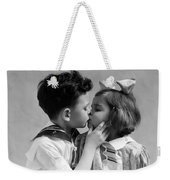 1930s Two Children Young Boy And Girl Weekender Tote Bag