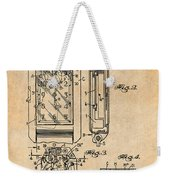 1931 Self Winding Watch Patent Print Antique Paper Weekender Tote Bag