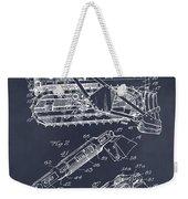 1932 Earth Moving Bulldozer Blackboard Patent Print Weekender Tote Bag