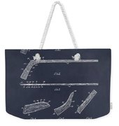 1934 Hockey Stick Patent Print Blackboard Weekender Tote Bag