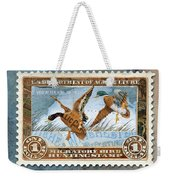 1934 Hunting Stamp Collage Weekender Tote Bag by Clint Hansen