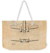 1934 Lockheed Model 10 Electra Airliner Patent Antique Paper Weekender Tote Bag