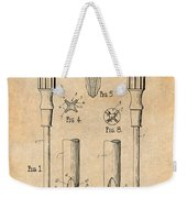 1935 Phillips Screw Driver Antique Paper Patent Print Weekender Tote Bag