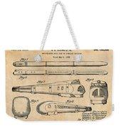 1935 Union Pacific M-10000 Railroad Antique Paper Patent Print Weekender Tote Bag