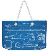 1935 Union Pacific M-10000 Railroad Blueprint Patent Print Weekender Tote Bag