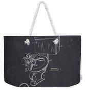 1936 Toilet Bowl - Dark Charcoal Grunge Weekender Tote Bag