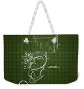 1936 Toilet Bowl - Dark Green Blueprint Weekender Tote Bag