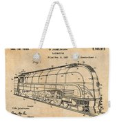 1937 Jabelmann Locomotive Antique Paper Patent Print Weekender Tote Bag