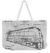1937 Jabelmann Locomotive Gray Patent Print Weekender Tote Bag