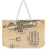 1937 Trumpet Antique Paper Patent Print Weekender Tote Bag