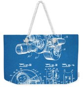 1938 Bell And Howell Movie Camera Patent Print Blueprint Weekender Tote Bag