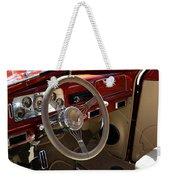 1938 Pontiac Silver Streak Interior Weekender Tote Bag