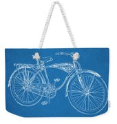 1939 Schwinn Bicycle Blueprint Patent Print Weekender Tote Bag