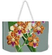 Orchid Vintage Print On Tinted Paperboard Weekender Tote Bag