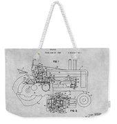 1942 John Deere Tractor Gray Patent Print Weekender Tote Bag
