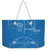 1944 Basketball Goal Blueprint Patent Print Weekender Tote Bag