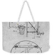 1944 Basketball Goal Gray Patent Print Weekender Tote Bag