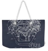 1954 Chrysler 426 Hemi V8 Engine Blackboard Patent Print Weekender Tote Bag