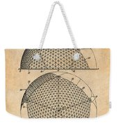 1954 Geodesic Dome Antique Paper Patent Print Weekender Tote Bag