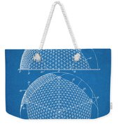 1954 Geodesic Dome Blueprint Patent Print Weekender Tote Bag