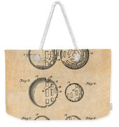 1954 Wiffle Ball Patent Print Antique Paper Weekender Tote Bag