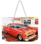 1955 Chevy Blower In The Gorage Weekender Tote Bag