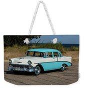 1956 Chevrolet 210  Weekender Tote Bag