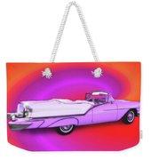 1957 Oldsmobile 98 Starfire Weekender Tote Bag