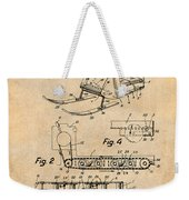 1960 Bombardier Snowmobile Antique Paper Patent Print Weekender Tote Bag