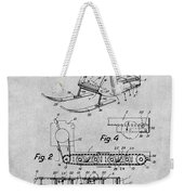 1960 Bombardier Snowmobile Gray Patent Print Weekender Tote Bag