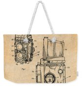 1960 Rolleiflex Photographic Camera Antique Paper Patent Print Weekender Tote Bag