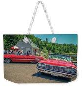1964 And 1963 Chevrolet Impala Convertibles Weekender Tote Bag