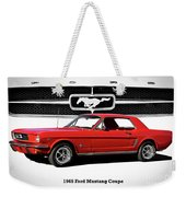 1965 Mustang 289 Coupe Weekender Tote Bag