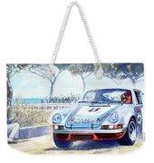 1973 Targa Floria Porsche 911 Carrera Rsr Martini Racing Lennep Muller Winner  Weekender Tote Bag