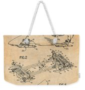 1982 Bobsled Antique Paper Patent Print  Weekender Tote Bag