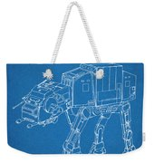 1982 Star Wars At-at Imperial Walker Blueprint Patent Print Weekender Tote Bag