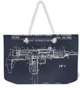 1982 Uzi Submachine Gun Blackboard Patent Print Weekender Tote Bag