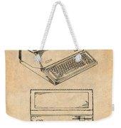 1983 Steve Jobs Apple Personal Computer Antique Paper Patent Print Weekender Tote Bag