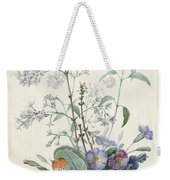 A Bouquet Of Flowers With Insects  Weekender Tote Bag